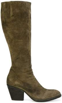 Officine Creative textured knee length boots