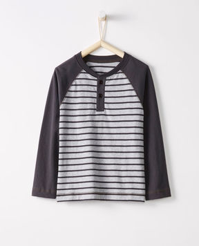 Hanna Andersson Colorblock Henley In Supersoft Jersey