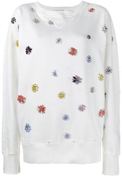Faith Connexion oversized flower embellished sweatshirt