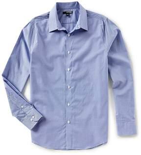 Murano Slim-Fit Check Dobby Long-Sleeve Woven Shirt