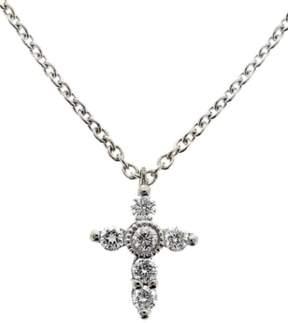 Bony Levy Women's Diamond Mini Cross Necklace (Nordstrom Exclusive)