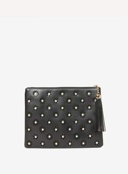 Dorothy Perkins Black Laser Cut Clutch Bag