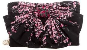 RED Valentino Floral Bow Clutch