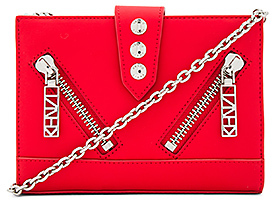 Kenzo Gommato Shoulder Bag in Red.