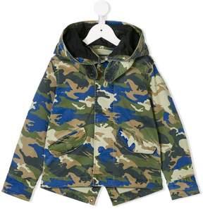 Zadig & Voltaire Kids hooded camouflage jacket