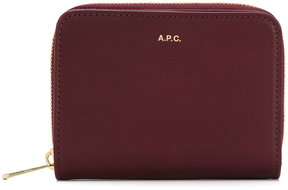 A.P.C. logo plaque wallet