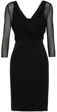 Emilio Pucci Wrap-Effect Chiffon-Paneled Jersey Mini Dress