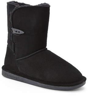 BearPaw Black Victorian Short Boots
