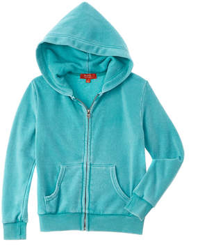 Butter Shoes Girls' Teal Fleece Hoodie