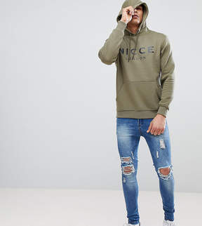 Nicce London hoodie in green with large logo exclusive to asos