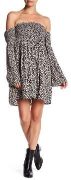Billabong Night Fox Off-the-Shoulder Dress