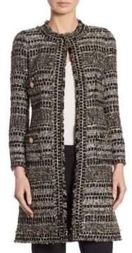 Edward Achour Long Wool Tweed Jacket