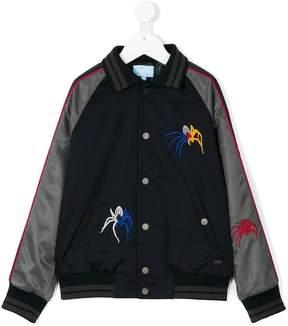 Lanvin Enfant spiders embroidered bomber