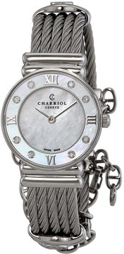 Charriol St Tropez Mother of Pearl Dial Diamond Ladies Watch