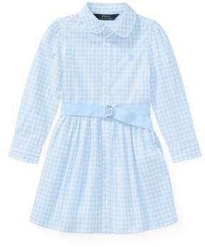 Ralph Lauren Little Girl's Gingham Belted Shirtdress