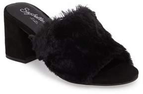 Seychelles Women's Nobody Else Faux Fur Slide Sandal