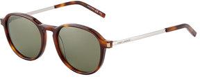 Saint Laurent Plastic/Metal Round Sunglasses