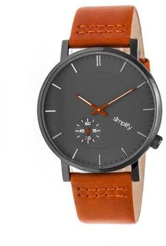 Simplify The 3600 Collection SIM3607 Gunmetal Analog Watch