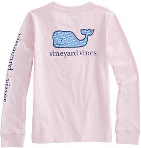 Vineyard Vines Girls Long-Sleeve Breast Cancer Awareness Tee