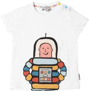 Paul Smith Astronaut Print Cotton Jersey T-Shirt