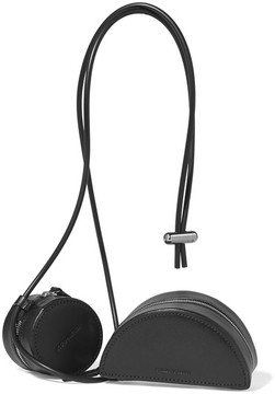 Building Block Etc Sling Set Of Two Leather Pouches - Black