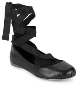 BCBGeneration Talia Tie-Up Ballet Flats