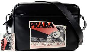 Prada Comic-logo Print Shoulder Bag