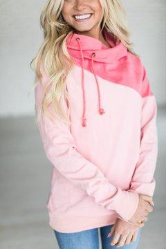 Ampersand Avenue SingleHood Sweatshirt - Diagonal Pink