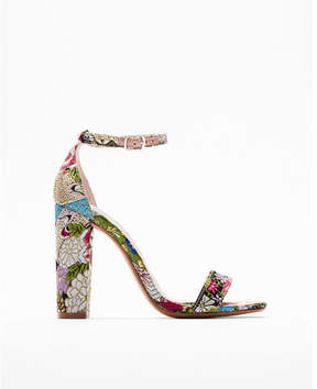 Express steve madden carrson embroidered heeled sandals