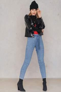 NA-KD Na Kd Belted Jeans