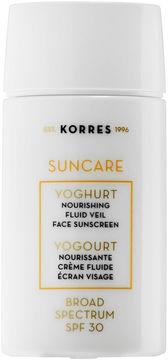 Korres Suncare Yoghurt Nourishing Fluid Veil Face Sunscreen Broad Spectrum Spf 30