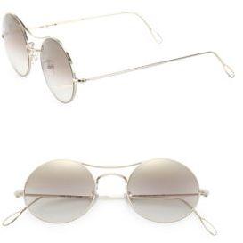 Lanvin Ros 49MM Round Sunglasses