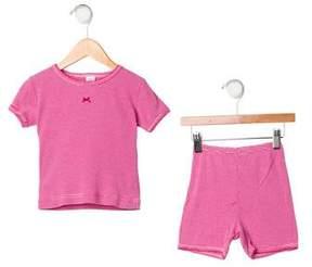 Petit Bateau Girls' Striped Short Sleeve Top
