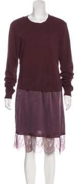 Clu Lace-Trimmed Midi Dress