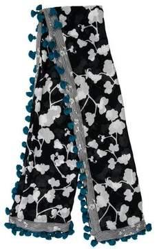 Diane von Furstenberg Printed Tassel Scarf