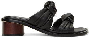 Helmut Lang Black Knot Heeled Sandals
