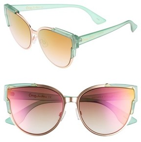 Sam Edelman Women's 56Mm Combo Cat Eye Sunglasses - Green