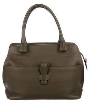 Loro Piana Grained Leather Handle Bag