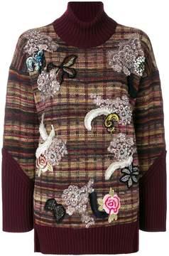 Antonio Marras embellished turtle neck jumper