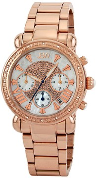 JBW Victory Chronograph Mother of Pearl Dial Rose Gold-Plated Diamond Ladies Watch