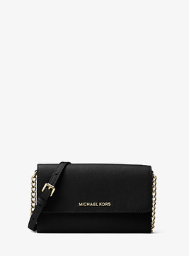 Michael Kors Jet Set Travel Saffiano Leather Smartphone Crossbody - BLACK - STYLE
