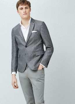 Mango Outlet Slim-fit linen blazer