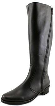 Gabor 92.767 Women W Round Toe Leather Black Knee High Boot.