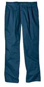 Dickies Men's Relaxed Fit Cotton Pleated Front Pant 34 Inseam.
