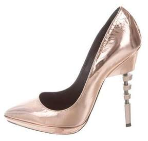 Ruthie Davis Metallic Pointed-Toe Pumps