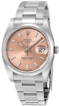 Rolex Oyster Perpetual Date 34 Pink Dial Stainless Steel Bracelet Automatic Unisex Watch
