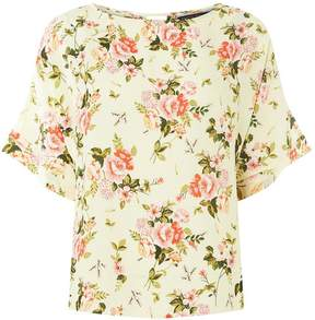 Dorothy Perkins Lemon Floral Print Slouch Woven T-Shirt