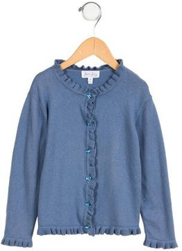 Rachel Riley Girls' Ruffle Rib Knit Cardigan