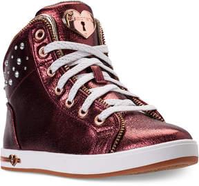 Skechers Girls' Shoutouts - Ritzy Zips High Top Casual Sneakers from Finish Line