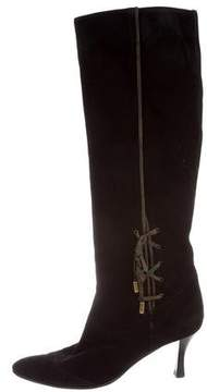 Hermes Pointed-Toe Knee-High Boots
